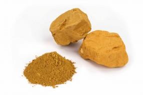 Gelber marokkanischer Ocker, in Stücken