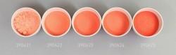 Farbglas opalorange rötlich, opak