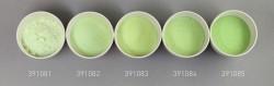 Farbglas resedagrün, transparent