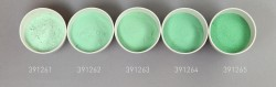 Farbglas opalgrün, opak