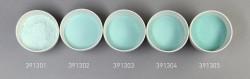 Farbglas jadegrün, transparent