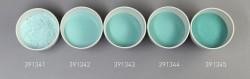 Farbglas opal dunkelgrün, opak