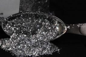 Silber Glitzer 0,6 x 0,6 mm