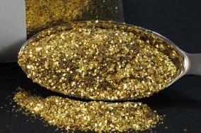 Gold-Glitzer 0,4 x 0,4 mm