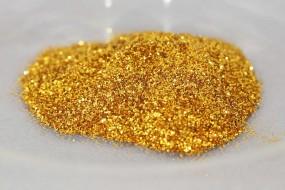 Polyesterglitter Royalgold