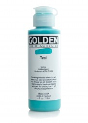 Golden FLUID ACRYLICS, dark turquois