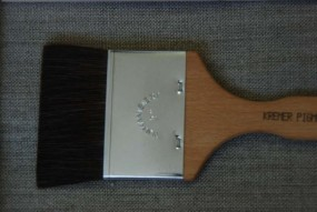 Flat Brush, Fine Ox Hair, No. 3 inch