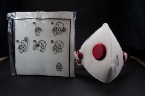 Staubmaske, mit leichtgängigem Ausatemventil