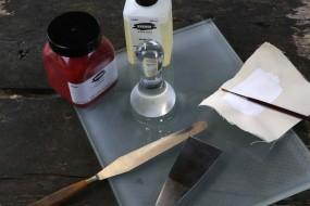 Anreibe-Glasplatte