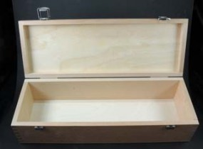 Holzkasten leer, 36 x 12,5 x 8,9 cm
