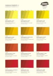 Farbkarte Kremer Pigmente - Cadmium Pigmente