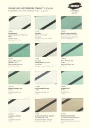 Farbkarte Kremer Pigmente - Eigene und historische Pigmente