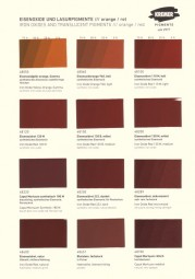 Color Chart Kremer Pigments - Iron Oxides