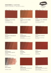 Color Chart Kremer Pigments - Earth Pigments