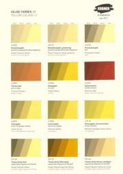 Farbkarte Kremer Pigmente - Gelbe Farben