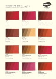 Farbkarte Kremer Pigmente - Synth. Organische Pigmente