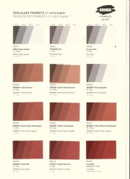 Farbkarte Kremer Pigmente - Perlglanz Pigmente