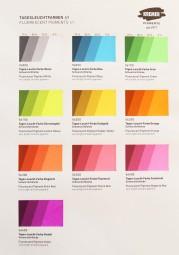 Farbkarte Kremer Pigmente - Tagesleuchtfarbe