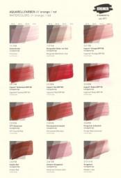 Farbkarte Kremer Pigmente - Aquarellfarben