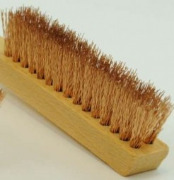 Brush with long handle, bronze wire, 0.20/20 mm