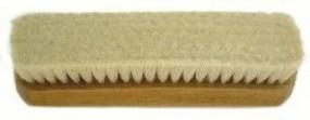Handbürste geschweift, Ziegenhaar, 183/50 mm