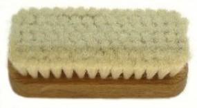 Handbürste, rechteckig, Ziegenhaar, 105/45 mm