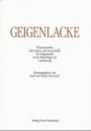 J. und R. Hammerl: Geigenlacke