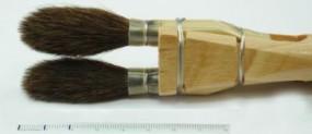 Pinceau Chiqueteur, plat, petit-gris, no. 2