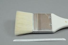 Grundierpinsel, flach, Ziegenhaar, Gr. 3 Zoll